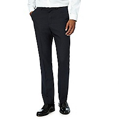 The Collection - Navy flat front tailored fit trousers
