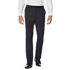 The Collection - Big and tall navy wool blend suit trousers