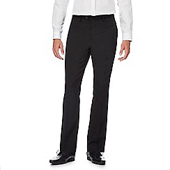 The Collection - Big and tall black wool blend suit trousers