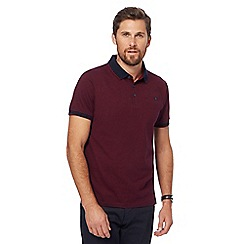 The Collection - Dark red fine striped polo shirt