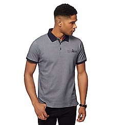 The Collection - Navy brick jacquard print polo shirt
