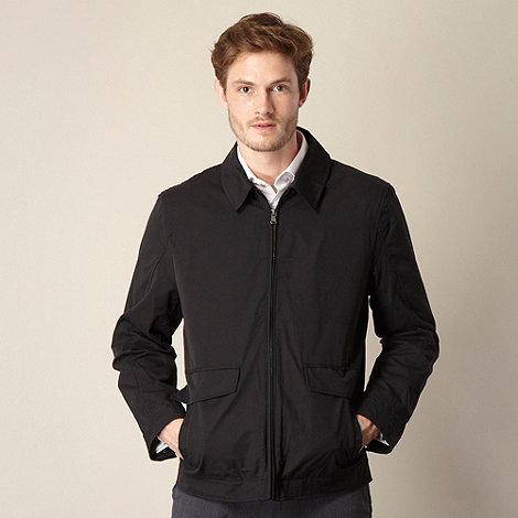 Thomas Nash - Big and tall black harrington jacket
