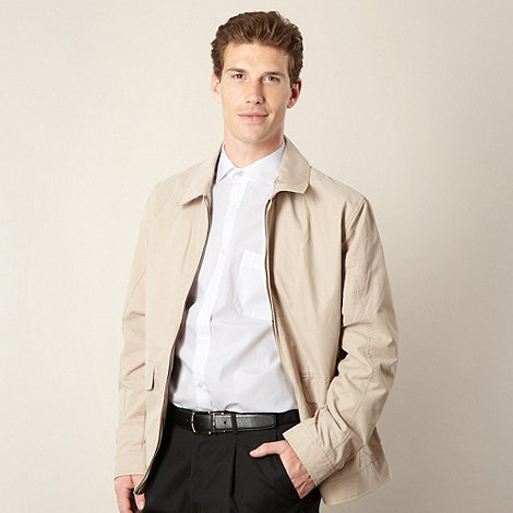 Thomas Nash - Big and tall natural harrington jacket