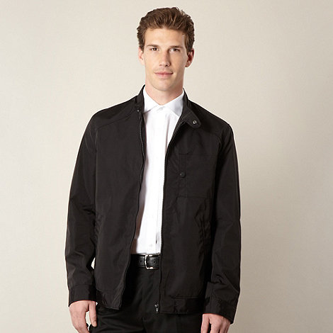 Thomas Nash - Big and tall black three pocket harrington jacket