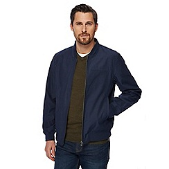 The Collection - Big and tall navy bomber jacket