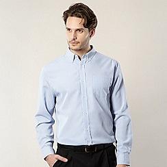 Thomas Nash - Big and tall light blue gingham checked shirt