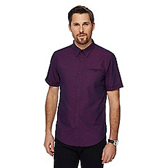 The Collection - Big and tall purple textured tailored fit shirt