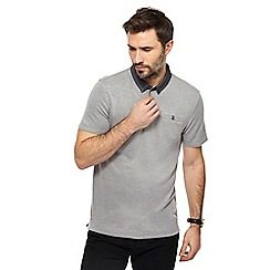 The Collection - Grey textured collar polo shirt