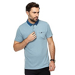 The Collection - Light blue textured collar polo shirt