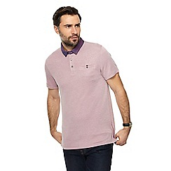 The Collection - Light pink textured collar polo shirt