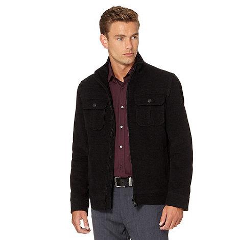 Thomas Nash - Big and tall dark grey moleskin harrington jacket
