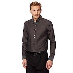 Thomas Nash - Grey plain double collar shirt