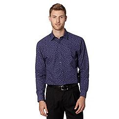 Thomas Nash - Purple floral smart shirt