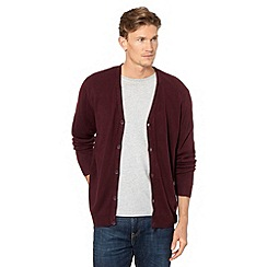 Thomas Nash - Plum fine knitted cardigan