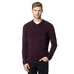 Thomas Nash - Plum V neck jumper