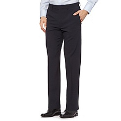 Thomas Nash - Navy flat front trousers