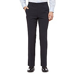 Thomas Nash - Big and tall navy plain slim leg trousers