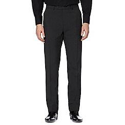 Thomas Nash - Grey plain slim fit trousers