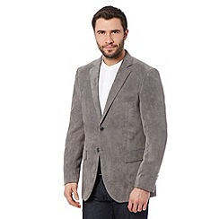 Thomas Nash - Grey soft touch suedette blazer