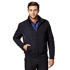 Thomas Nash - Big and tall navy wadded bomber jacket