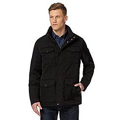 Thomas Nash - Black wadded bomber jacket