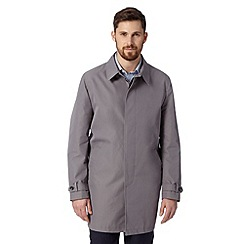 Thomas Nash - Big and tall grey cotton mac