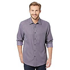 Thomas Nash - Big and tall purple textured striped shirt