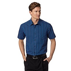 Thomas Nash - Blue multi tonal striped shirt