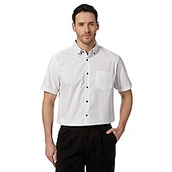 Thomas Nash - White monochrome spotted short sleeved shirt