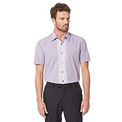 Thomas Nash - Purple gingham short sleeved shirt