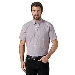 Thomas Nash - Purple gingham checked short sleeved shirt