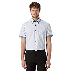Thomas Nash - Blue mini geometric arrow print shirt