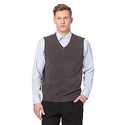 Thomas Nash - Dark grey knitted tank top