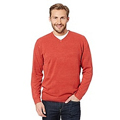 Thomas Nash - Dark orange V neck jumper