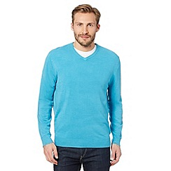Thomas Nash - Aqua V neck jumper