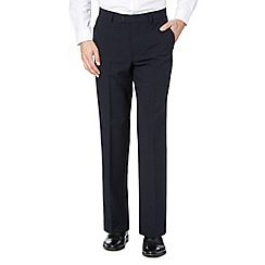 Thomas Nash - Big and tall navy straight leg work trousers
