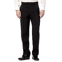 Thomas Nash - Big and tall black plain smart trousers
