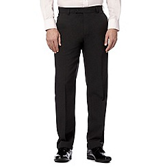 Thomas Nash - Big and tall grey plain smart trousers