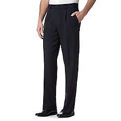 Thomas Nash - Big and tall navy straight leg trousers