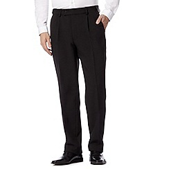 Thomas Nash - Black flexible waist smart trousers