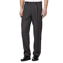 Thomas Nash - Big and tall grey pindot trousers