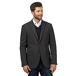 The Collection - Big and tall grey herringbone jacket