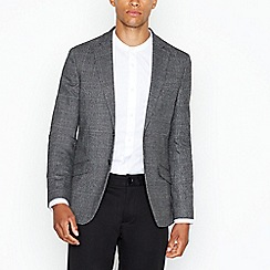 The Collection - Big and tall grey wool blend contrast blazer