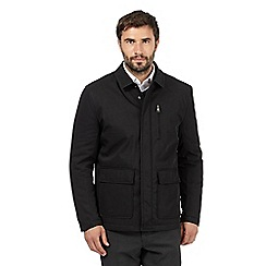The Collection - Big and tall black padded car coat