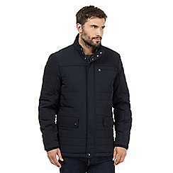 The Collection - Big and tall navy square quilted jacket
