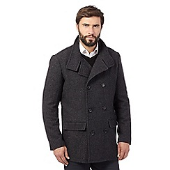 The Collection - Big and tall dark grey reefer coat