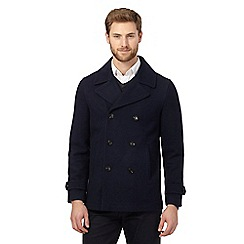 The Collection - Big and tall navy reefer coat