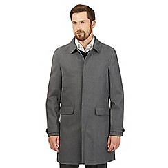 The Collection - Big and tall grey wool blend mac coat