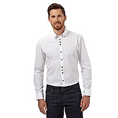 The Collection - Big and tall white poplin tailored shirt