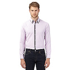 The Collection - Purple semi plain tailored fit shirt